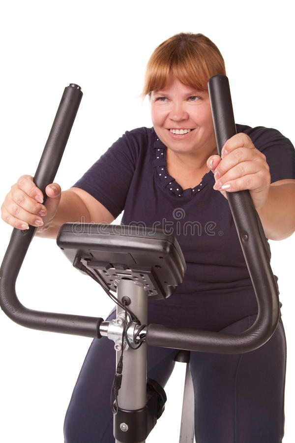 Tired fat woman stock images