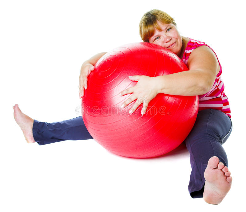 Download Tired fat woman stock image. Image of caucasian, fitness - 22764515