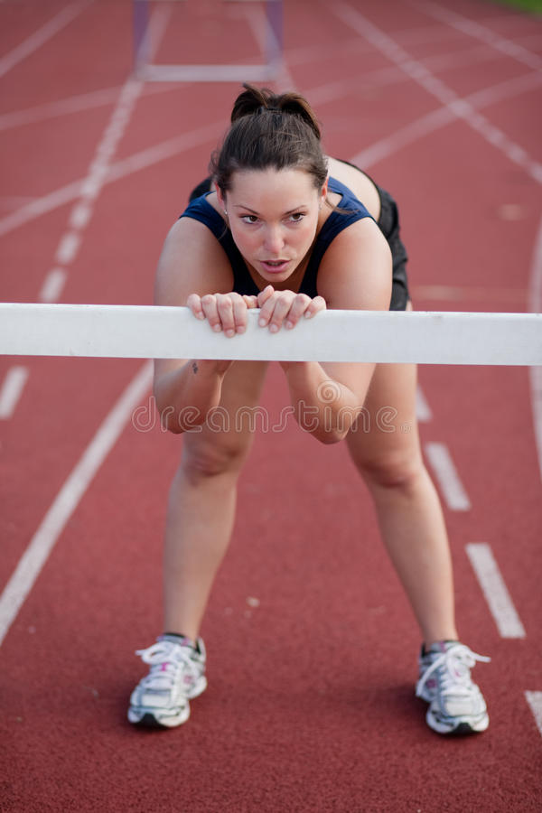 Tired Female Athlete Resting Royalty Free Stock Photos