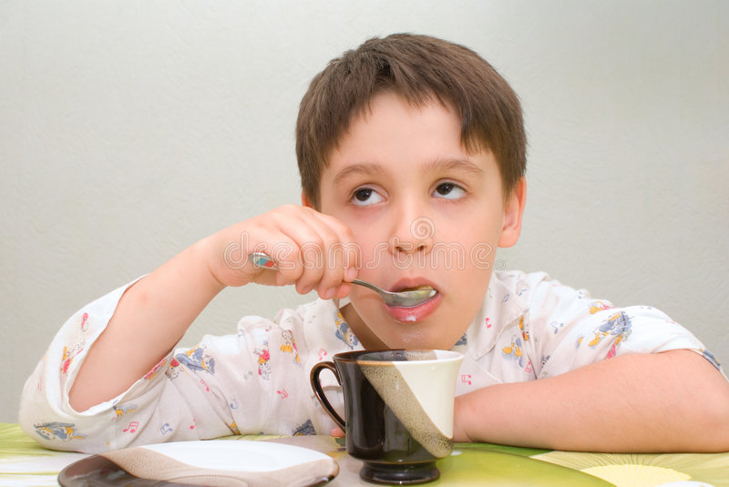 Tired by food stock photos