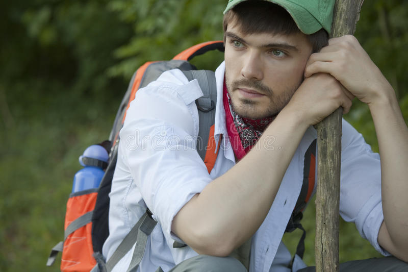 Download Tired Hiker Royalty Free Stock Image - Image: 19470066