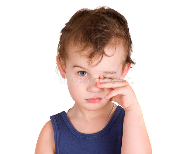Download A Tired Little Boy Rubbing Eyes Stock Photo - Image: 18755292