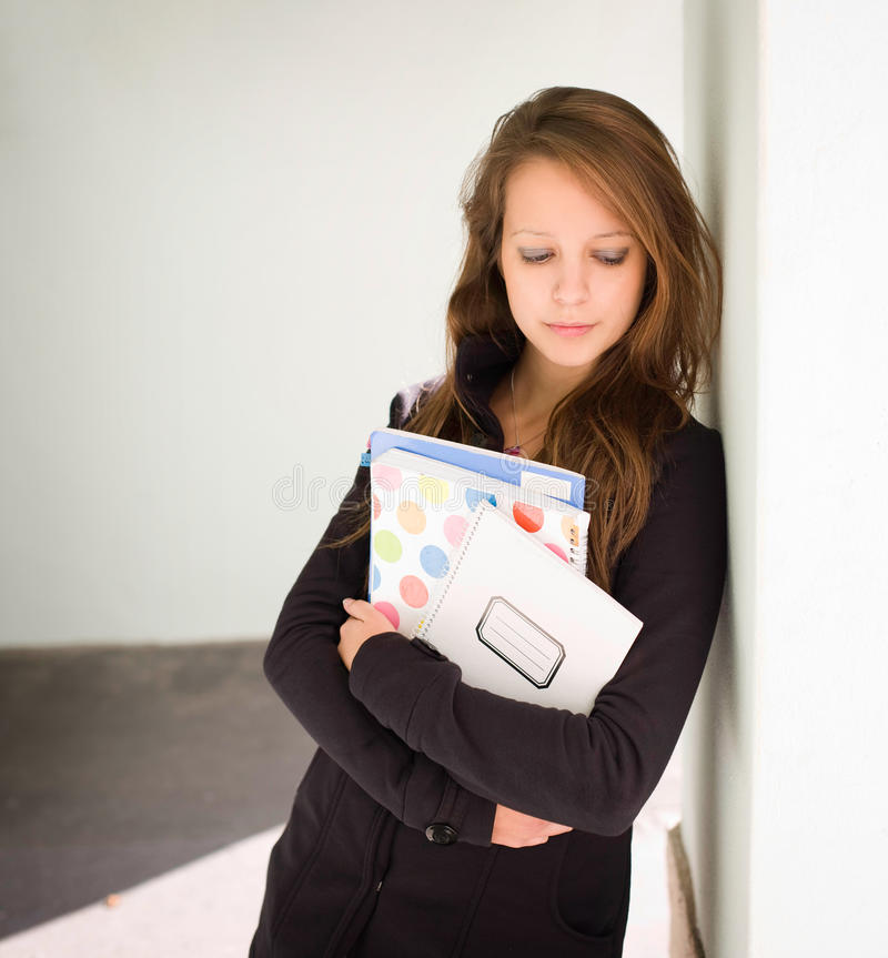 Download Tired Looking Young Student Girl. Stock Photo - Image: 21646458