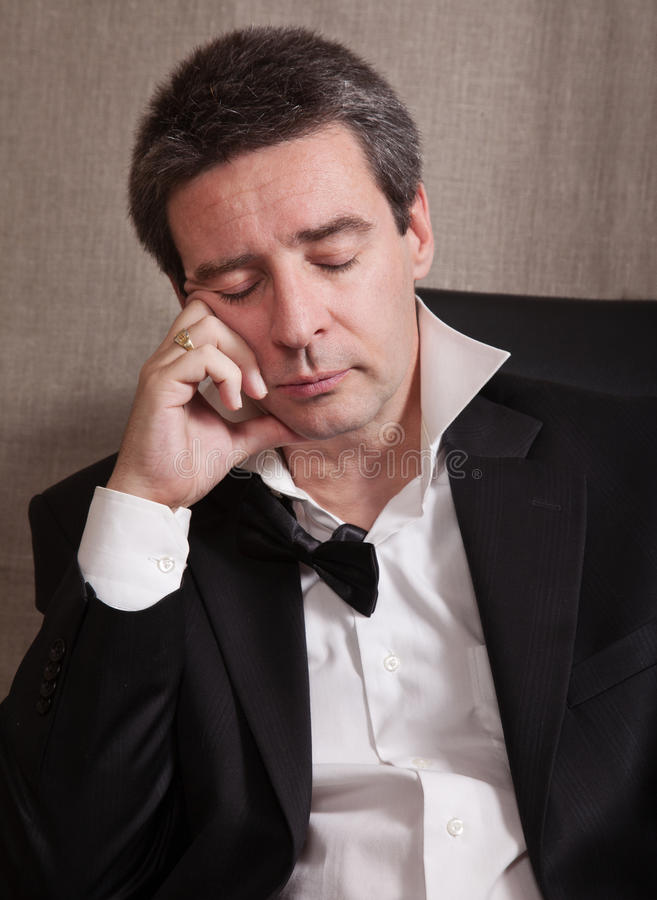 Download Tired Man After End Of A Party Stock Photo - Image: 18532100
