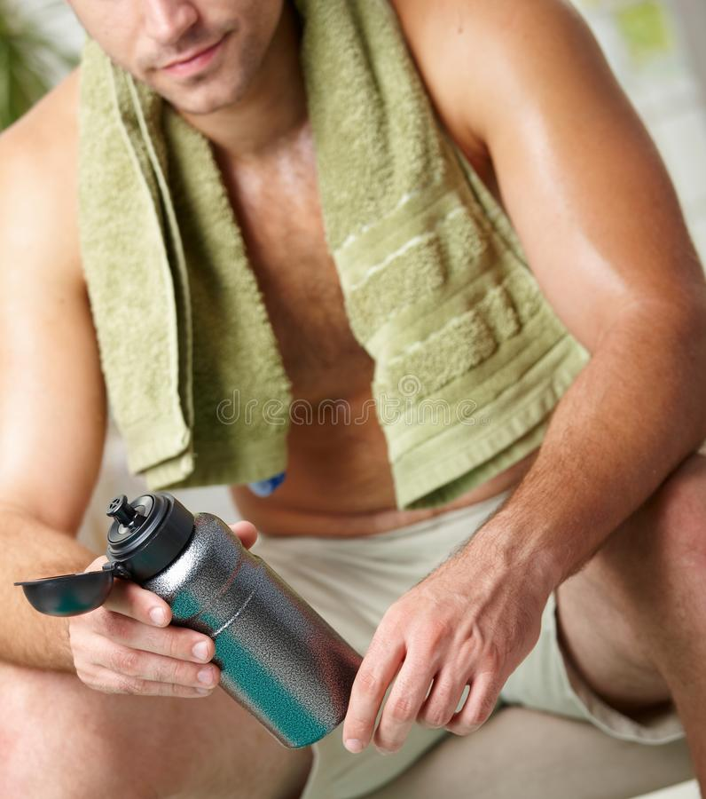 Download Tired man after training stock image. Image of health - 12048233