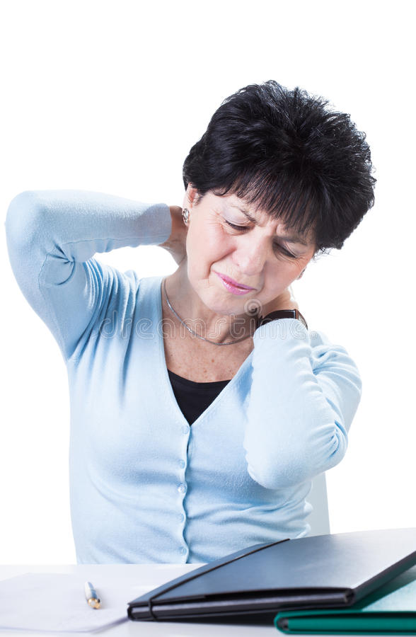Tired old lady stock images