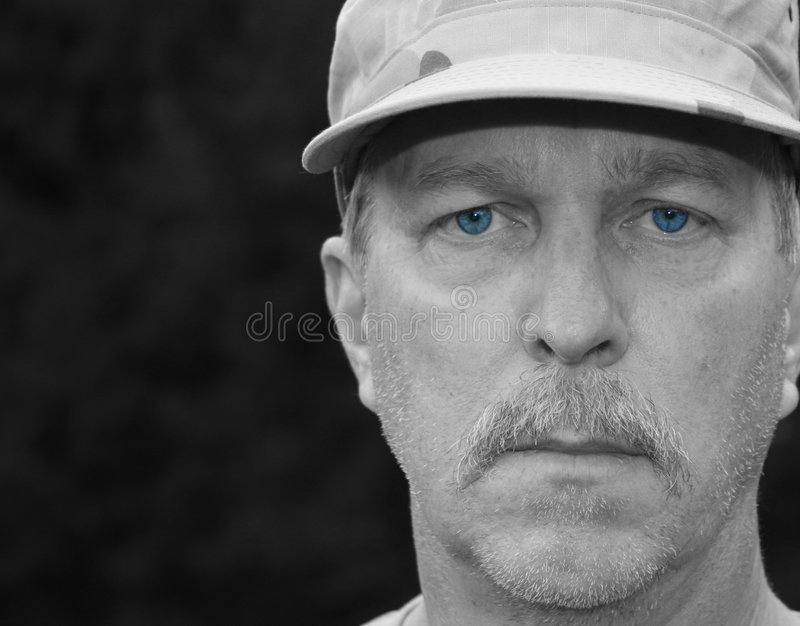 Tired Old Soldier royalty free stock photo