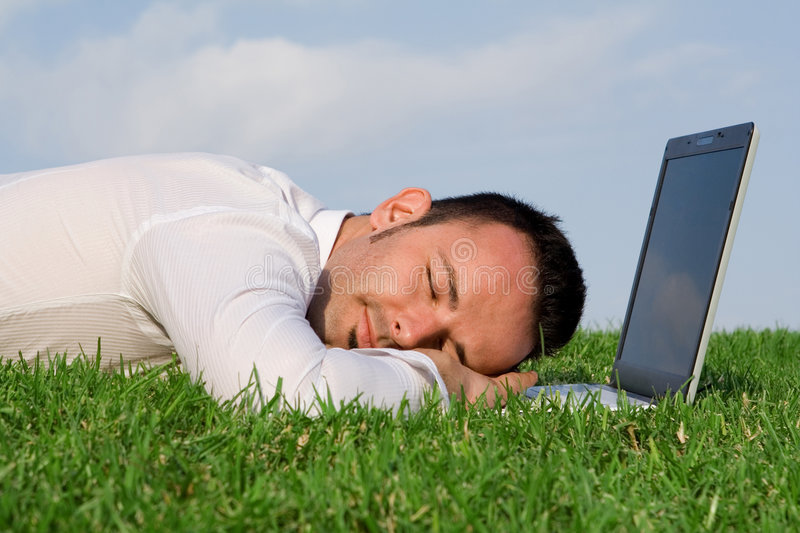 Download Tired overworked man stock image. Image of dream, exhausted - 6517371