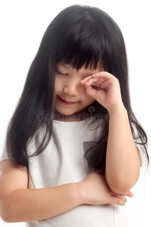 Tired and sleepy kid royalty free stock image