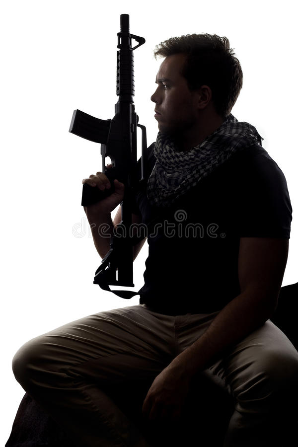 Tired Soldier stock photography
