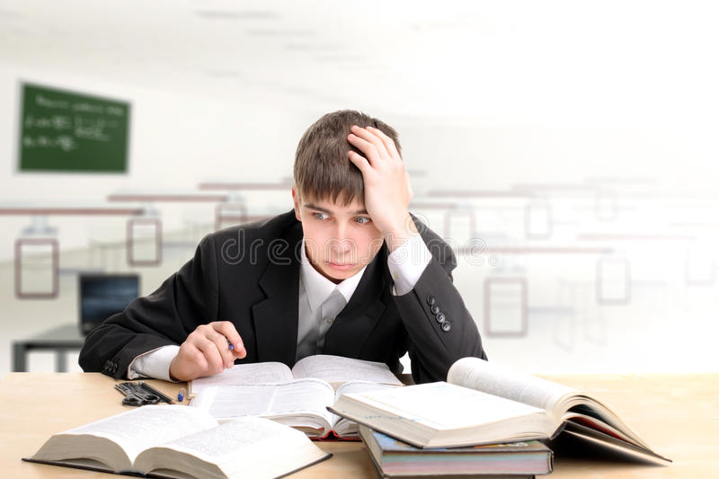 Download Tired student stock image. Image of business, hands, background - 19129327