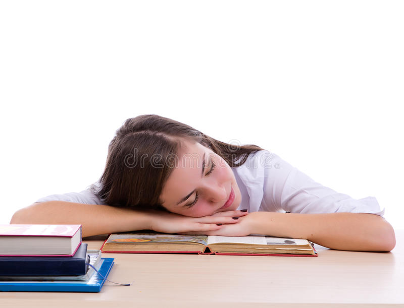 Download Tired student stock image. Image of learn, stress, caucasian - 28114223