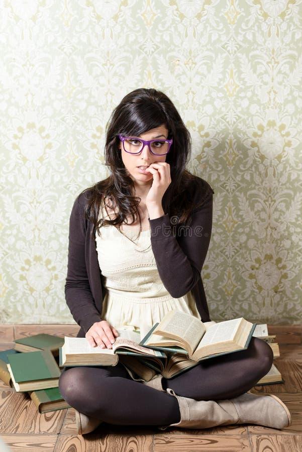Download Tired Student Preparing Exams Season Stock Photography - Image: 33700652