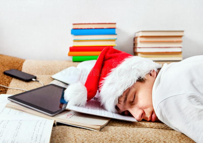 Tired Student sleeping royalty free stock photo