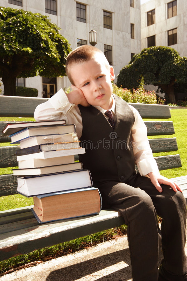Tired of Studying royalty free stock images