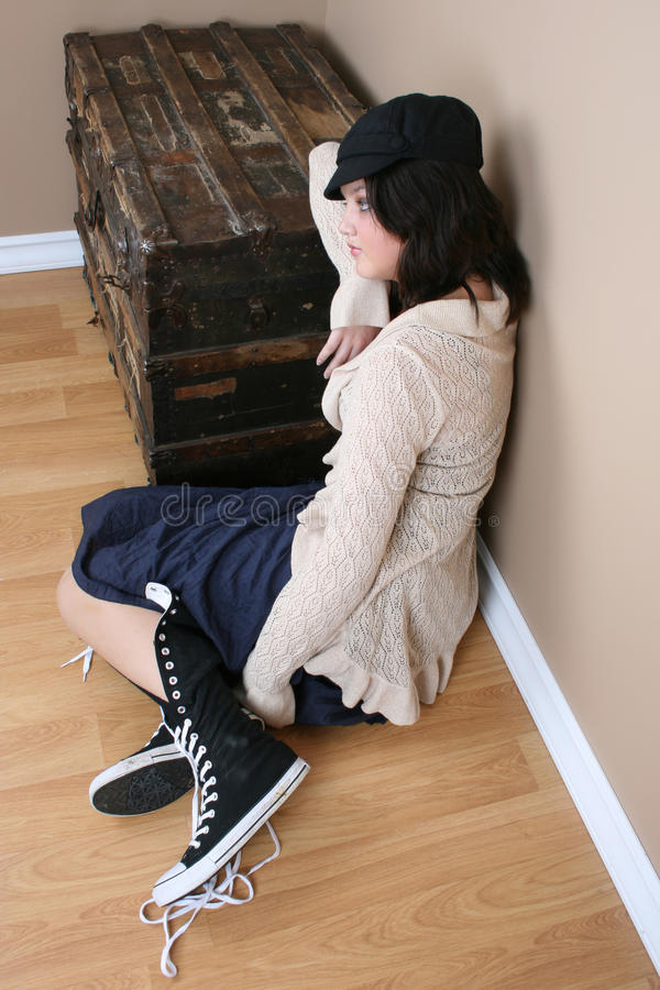Tired Teen Royalty Free Stock Photography