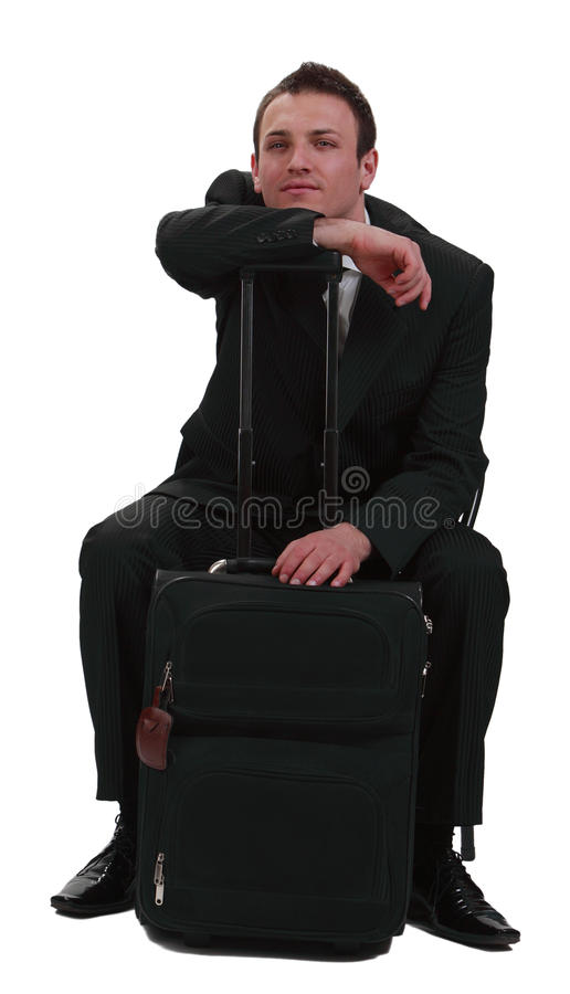 Download Tired traveler stock photo. Image of passenger, bored - 14103912
