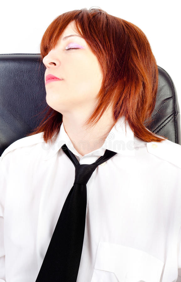Download Tired woman stock image. Image of occupation, chief, boredom - 19811033