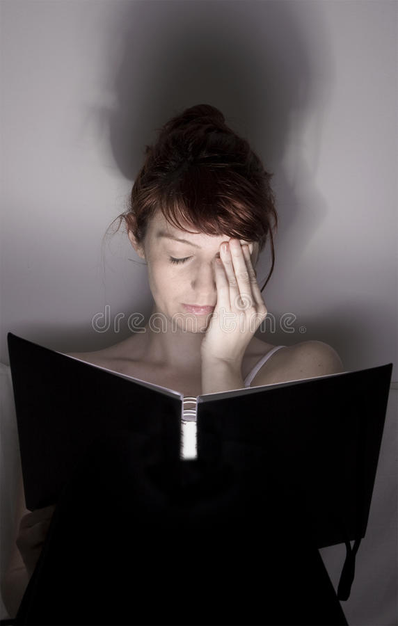 Tired woman stock photos