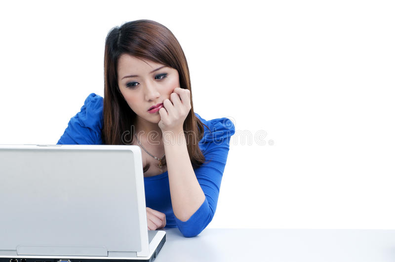 Download Tired Woman Working On Laptop Stock Photo - Image: 20372036