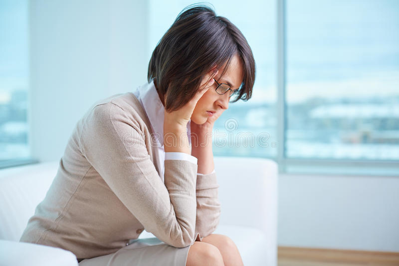 Tired woman stock photography
