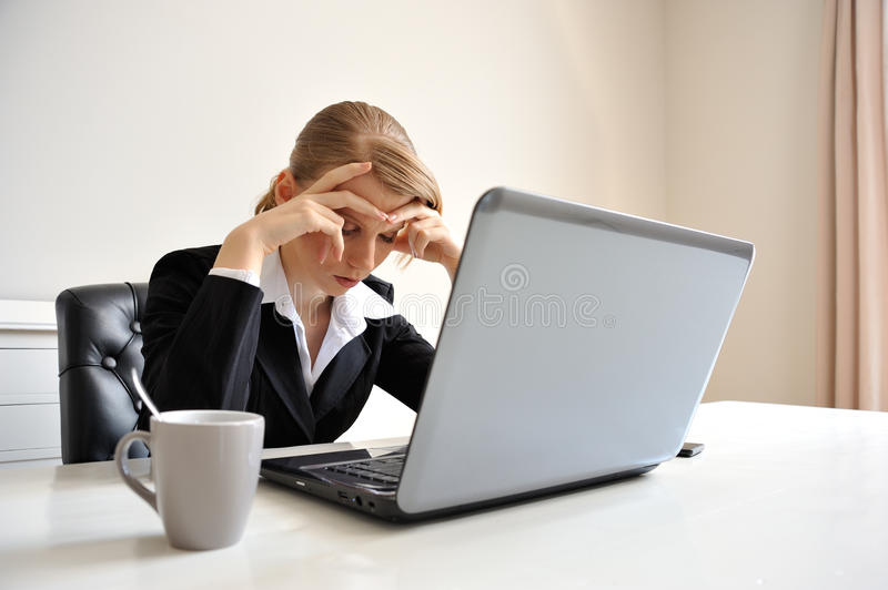 Tired from work stock photography