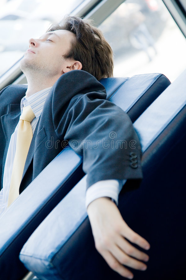 Download Tired young businessman stock photo. Image of room, office - 6072988