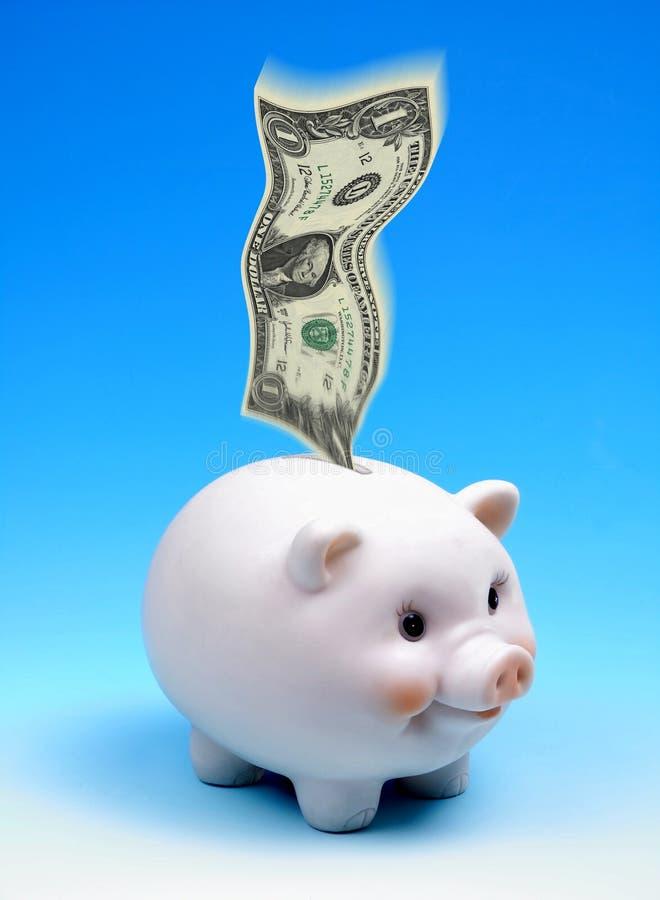 Tirelire d'argent d'économie images libres de droits