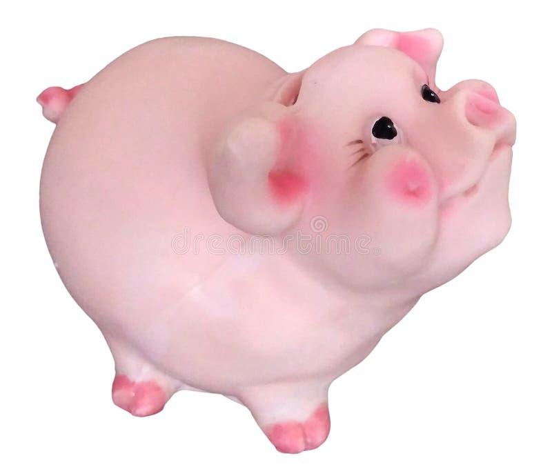 Tirelire de jouet porcin avec du charme mignon, symbole 2019 images stock
