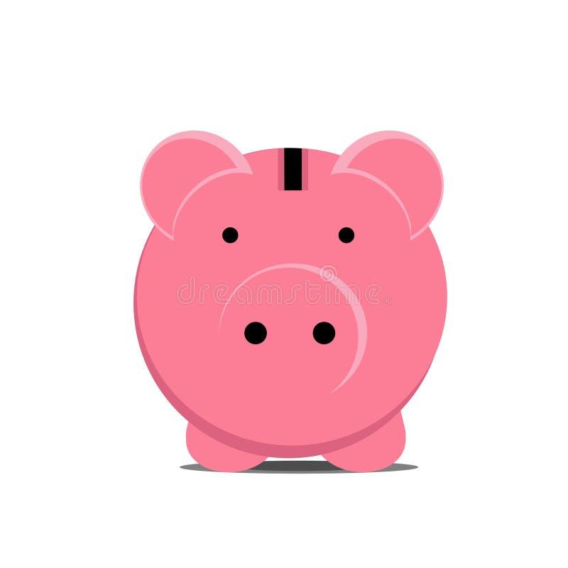 Tirelire de porc sur un fond blanc foreground Illustration de vecteur illustration de vecteur