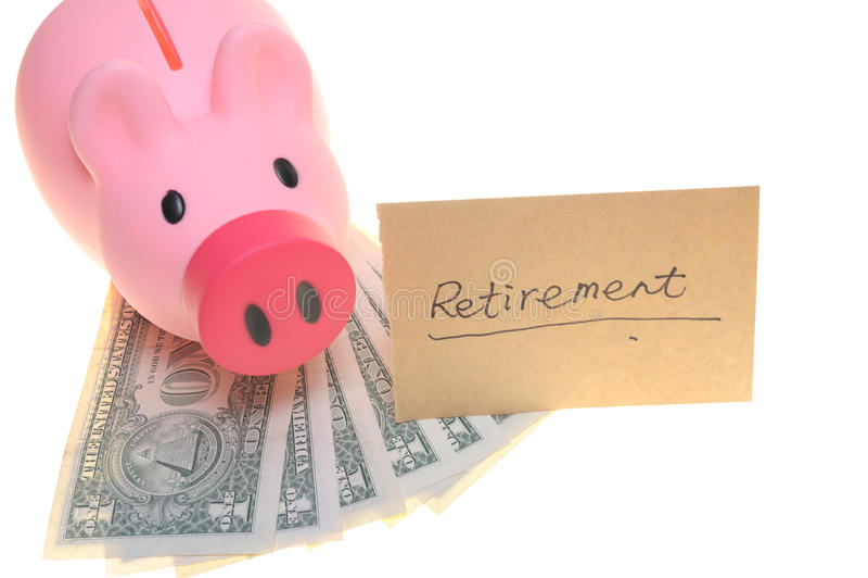 Tirelire pour la retraite image stock