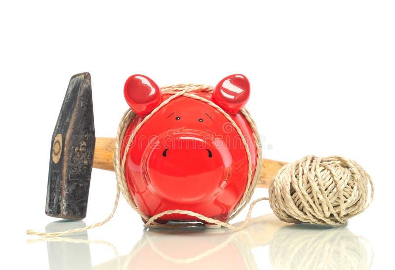 Tirelire rouge photographie stock
