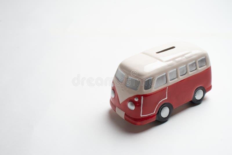 Tirelire rouge d'autobus photos libres de droits