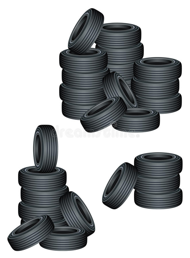 Tires. On a white background royalty free illustration