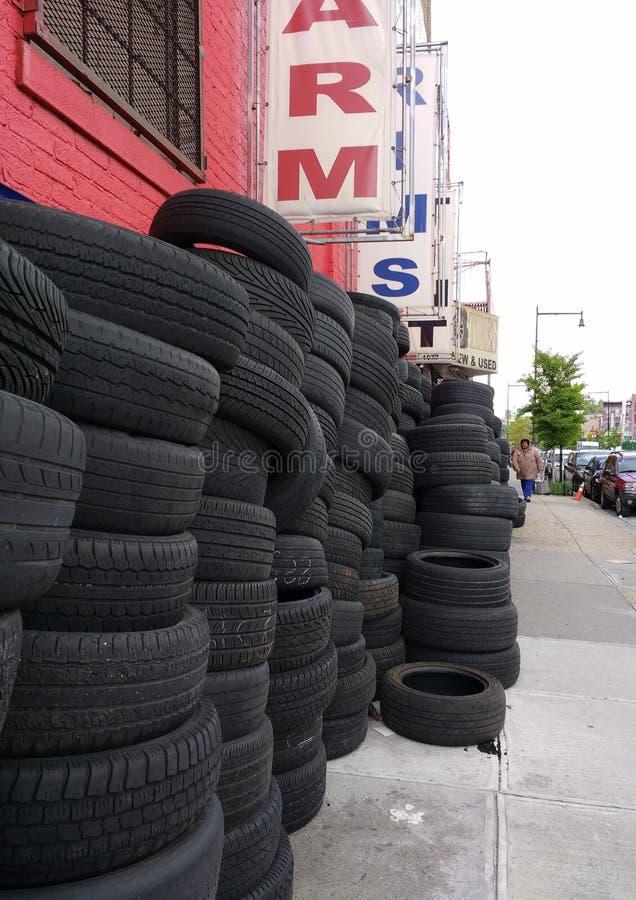 Tires, Brooklyn, New York, USA royalty free stock photos