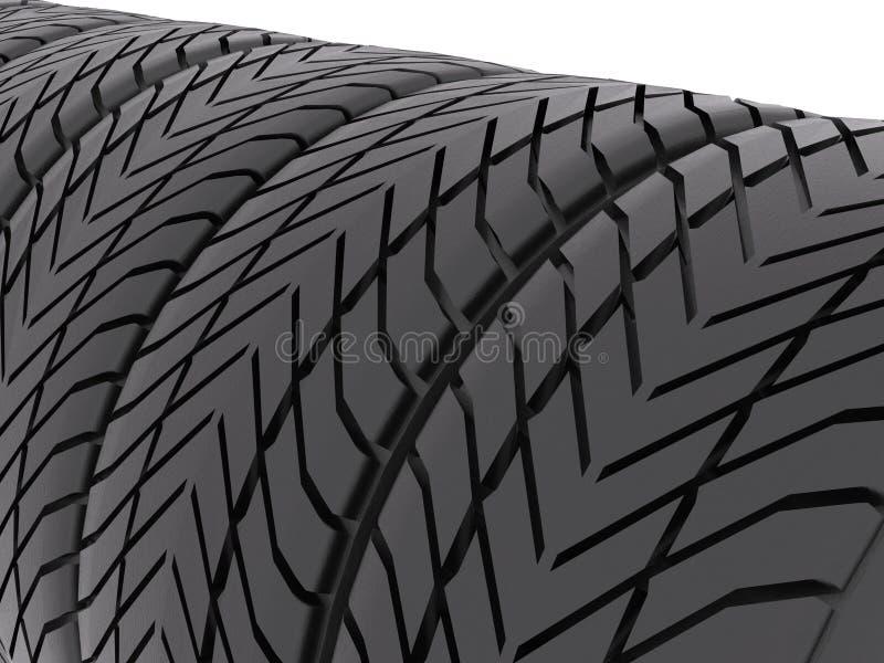 Download Tires closeup stock illustration. Illustration of grip - 25249290