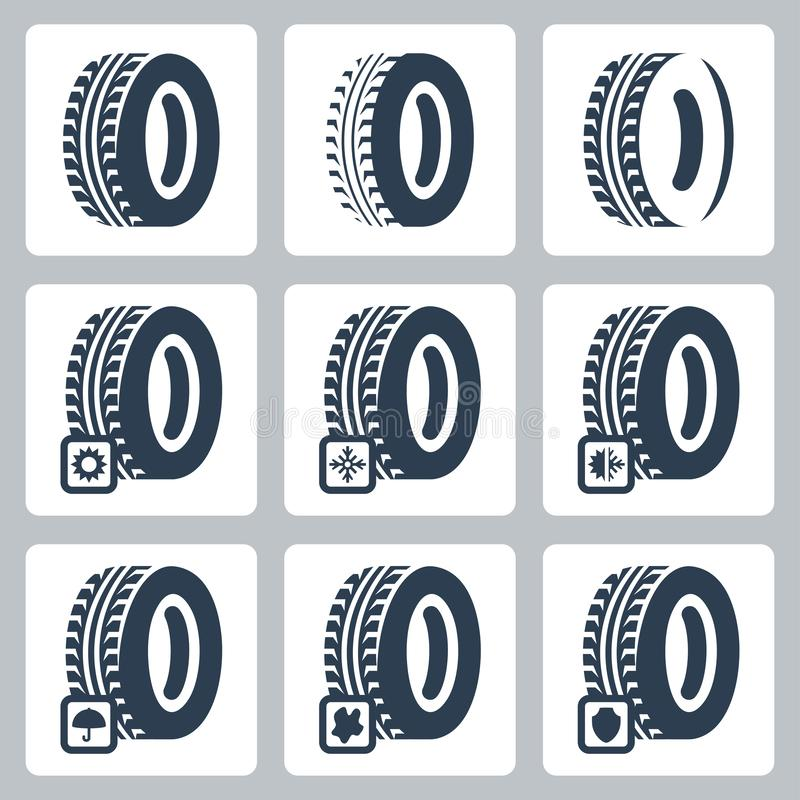 Free Tires Related Icons Set Stock Images - 164478824