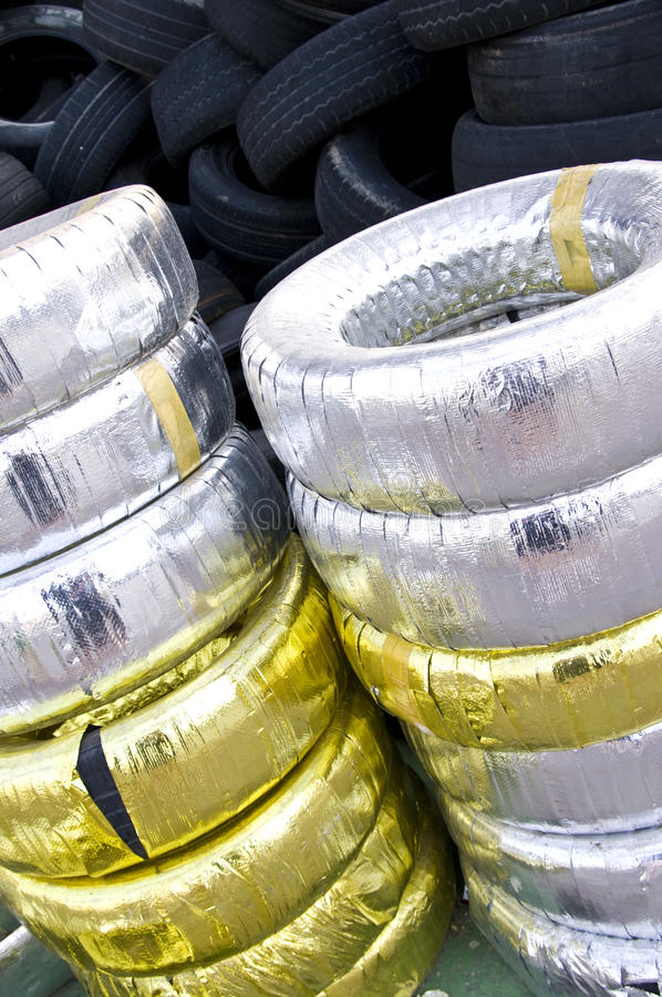 Download Tires for sale stock image. Image of gold, silver, many - 14875365