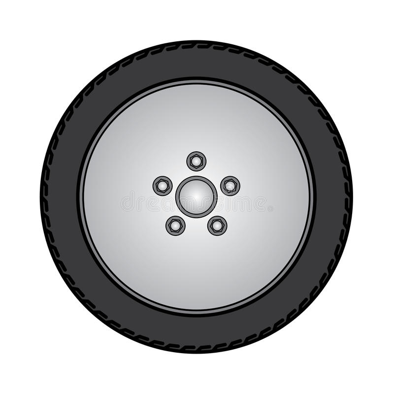 Tires and wheels Vector Illustration. eps10. Image of tires and wheels on white Vector Illustration vector illustration