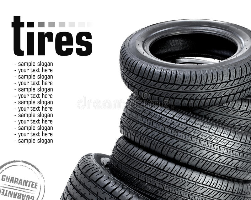 Tires On The White Background Royalty Free Stock Photo