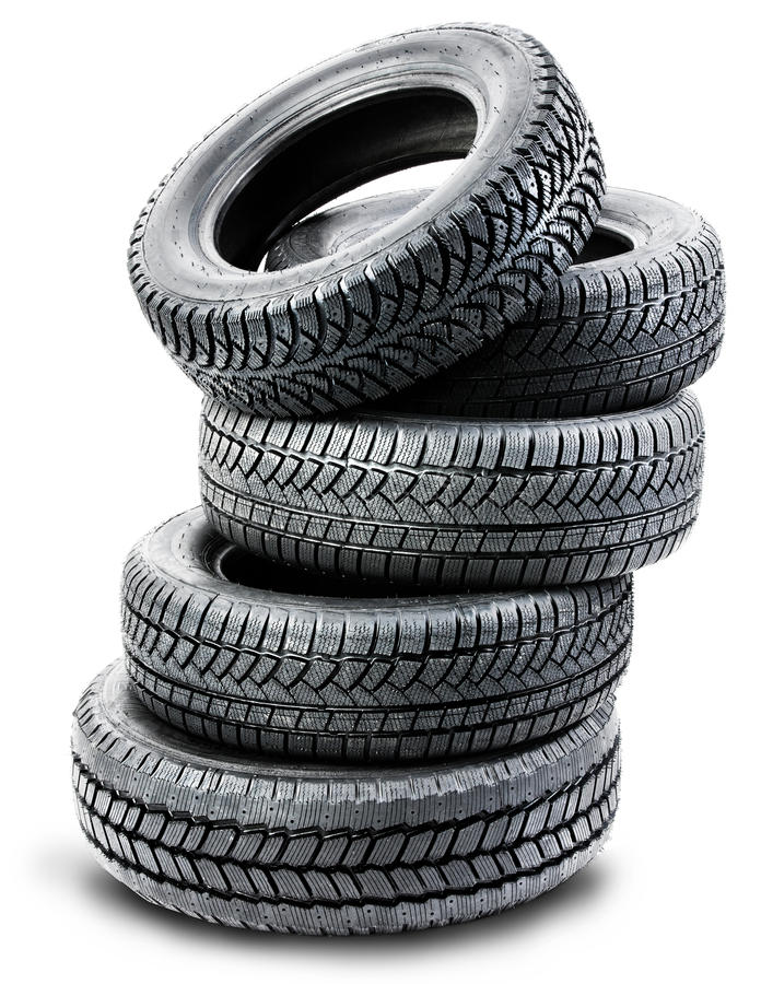 Download Tires On The White Background Stock Image - Image: 26962813
