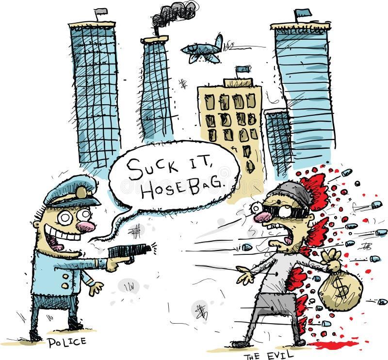 Tireur de police illustration libre de droits