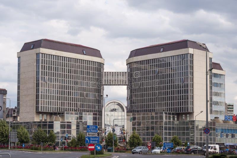 Tirgu Mures-sediul ANAF - publice Mures Administratia Finantelor stockfoto