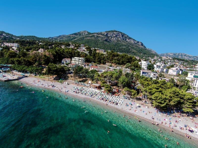 Tiri nella città di Antivari situata sul mare adriatico nel Montenegro immagini stock libere da diritti