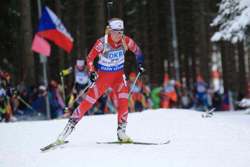 Tiril Eckhoff - biathlon fotos de archivo libres de regalías