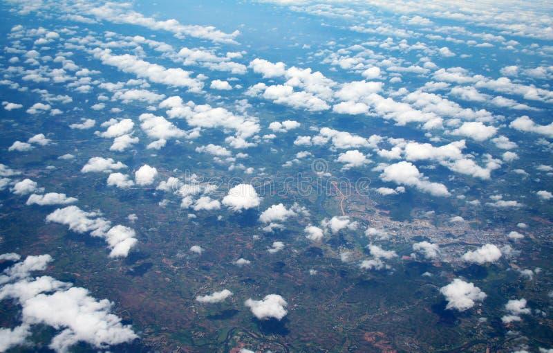 Tiro aéreo fotografia de stock royalty free