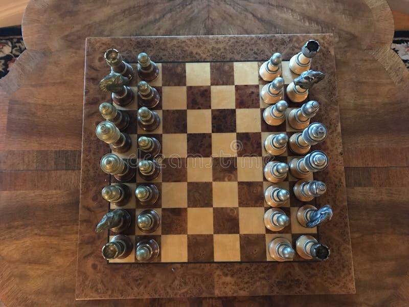 Tiro aéreo do jogo de xadrez imagens de stock