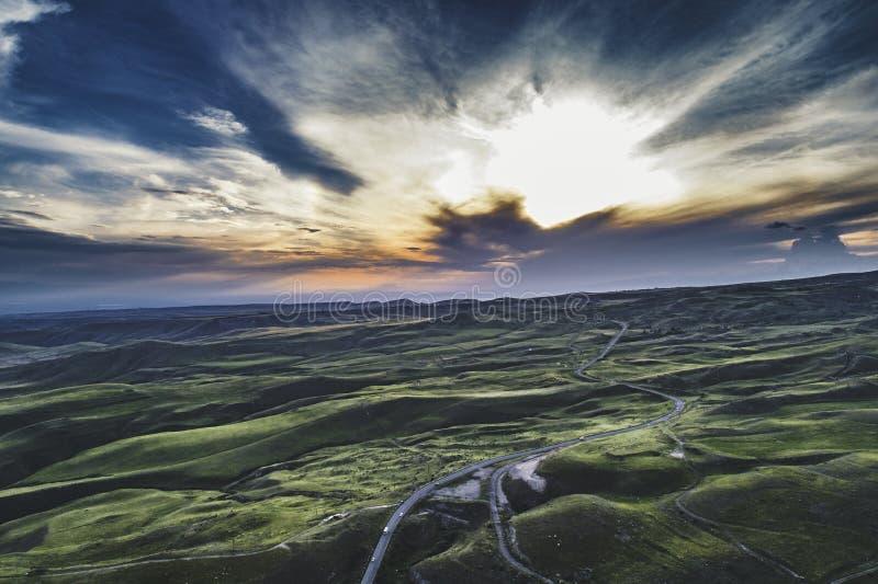 Tiro aéreo hermoso imagen de archivo
