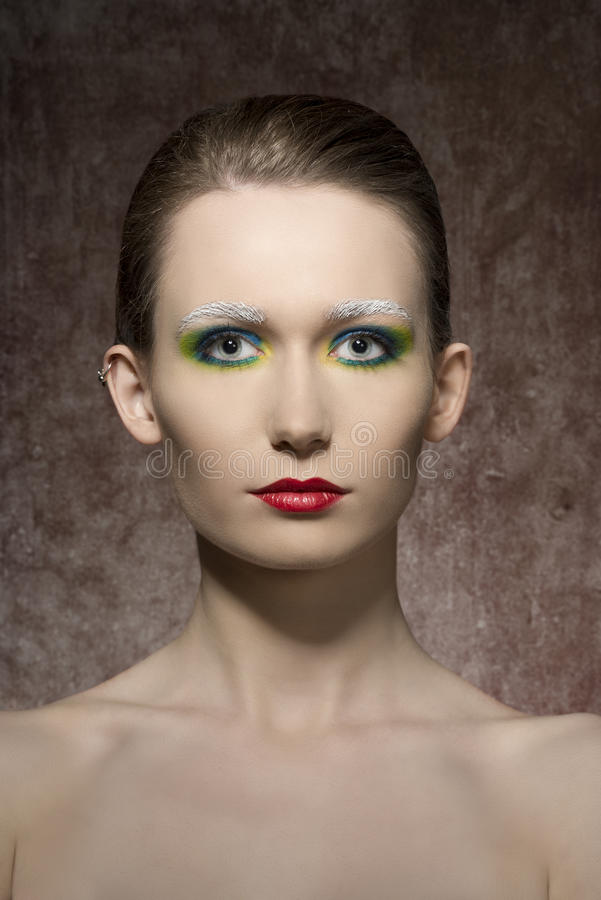 Tiro artistico di bellezza della donna fotografie stock libere da diritti