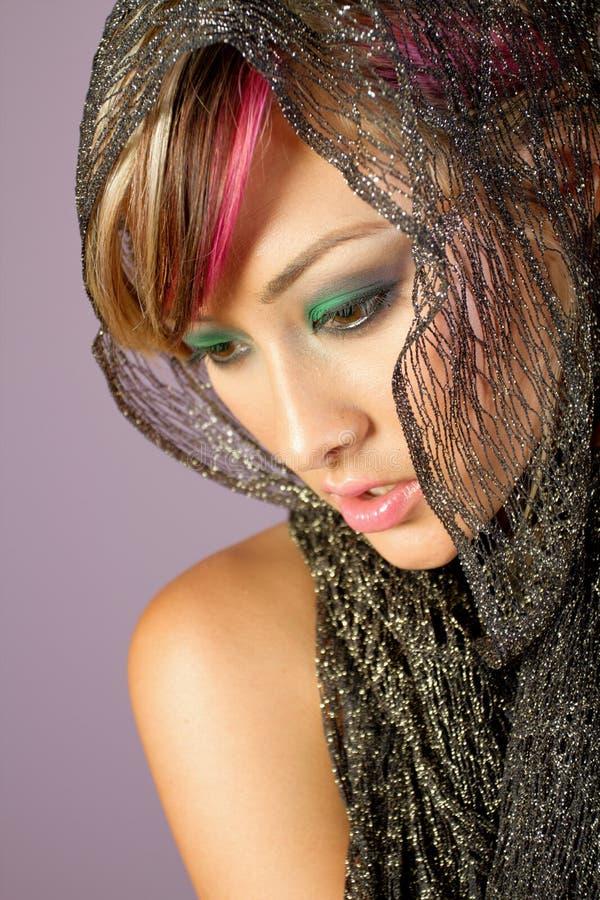 Tiro asiático joven de la belleza de la mujer fotos de archivo libres de regalías